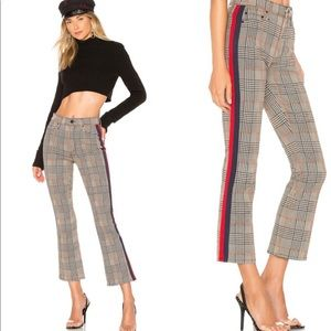 Mother Jeans Insider Plaid Ankle Pants New 25